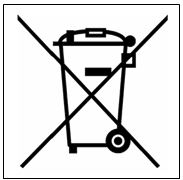 Do not throw electrical equipment with this symbol.