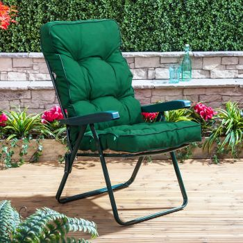 Recliner Chair - Green Frame with Classic Cushion