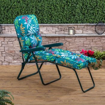 Sun Lounger - Green Frame with Classic Cushion