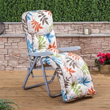 Relaxer Chair - Silver Frame with Classic Cushion