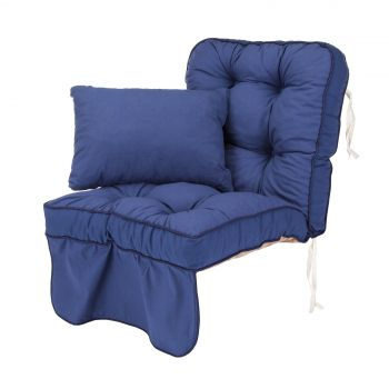 Single Classic Garden Swing Seat Cushion - Blue