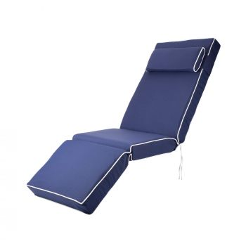 Luxury Relaxer Cushion in Navy Blue