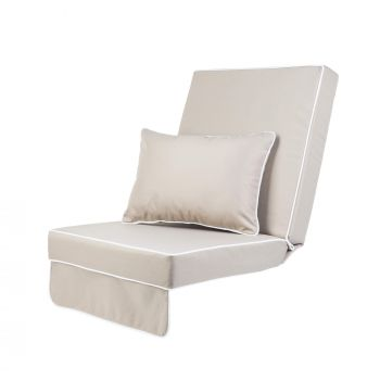 Single Luxury Garden Swing Seat Cushion - Taupe
