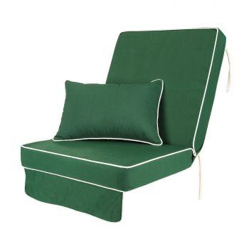 Single Luxury Garden Swing Seat Cushion - Green