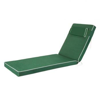 Luxury Sun Lounger Cushion in Green