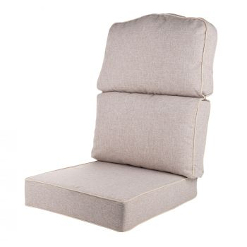 Replacement High Back Conservatory Furniture Cushion - Arran Natural