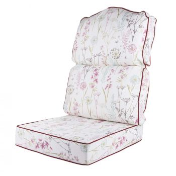 Replacement High Back Conservatory Furniture Cushion - Wild Flower Heather