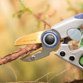 """Anvil Pruner Secateurs 8"""" with Japanese Steel Blade"""