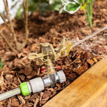 """Impulse Sprinkler Rotary ½"""" 360° for Maximum Water Coverage with Zinc Alloy Ground Spike"""