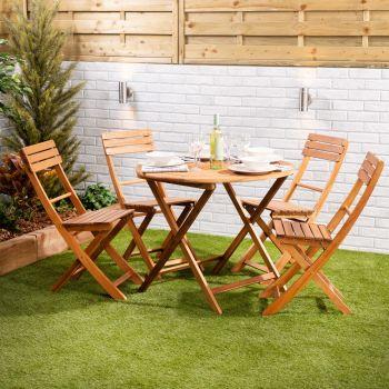 Wooden 4-Seater Garden Dining Set