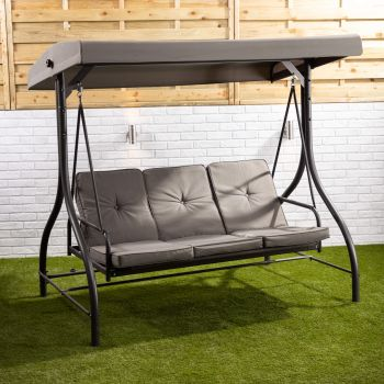 3 Seater Reclining Swing Seat with Cushions