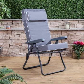 Recliner Chair - Charcoal Frame with Luxury Cushion