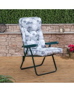 GREEN RECLINER FRANCESCA GREY CUSHION