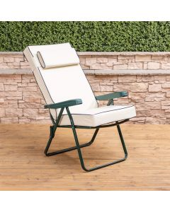 Recliner Chair - Green Frame with Luxury Cushion