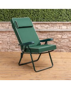GRN RECLINER + LUX CUSH&HR GREEN/NATURAL