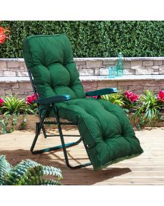 GREEN RELAXER FRAME PLAIN GREEN CUSHION