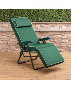Relaxer Chair - Green Frame with Luxury Green Cushion