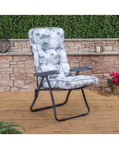 Recliner Chair - Charcoal Frame with Classic Francesca Grey Cushion