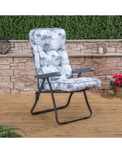 Recliner Chair - Charcoal Frame with Classic Cushion