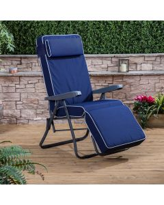 Relaxer Chair - Charcoal Frame with Luxury Cushion