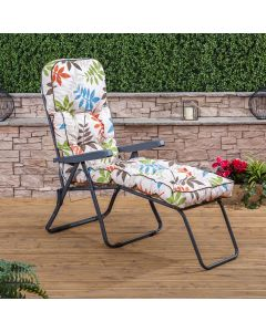 Sun Lounger - Charcoal Frame with Classic Cushion