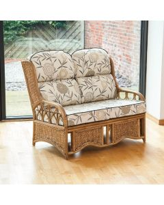 Java 2 Seater Cane Conservatory Sofa - Low Back Bamboo Natural