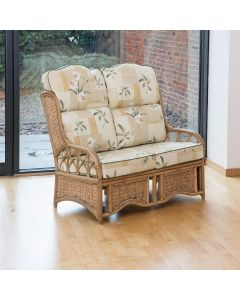 Java 2 Seater Cane Conservatory Sofa - High Back Harrogate Natural