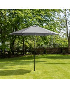 3m Aluminium Wind Up Garden Parasol - Grey
