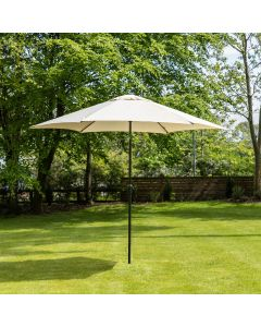 3m Aluminium Wind Up Garden Parasol - Cream