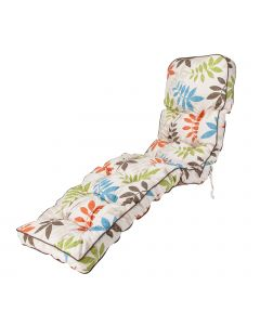 Classic Sun Lounger Cushion in Alexandra Beige Leaf