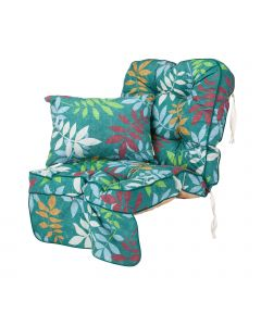 Single Classic Garden Swing Seat Cushion - Alexandra Green Leaf