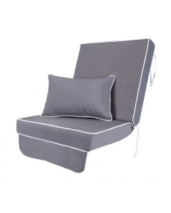 Single Luxury Garden Swing Seat Cushion - Grey