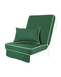 Single Luxury Garden Swing Seat Cushion - Green