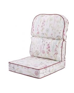 Replacement Low Back Conservatory Furniture Cushion - Wild Flower Heather