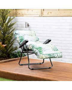 Relaxer Chair - Charcoal Frame with Bamboo Leaf Classic Cushion
