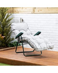 Relaxer Chair - Green Frame with Grey Classic Cushion