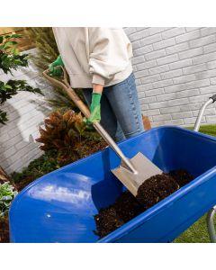 Stainless Steel Garden Spade - Ash Wooden Handle