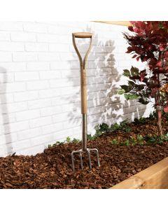 Stainless Steel Garden Fork - Ash Wooden Handle