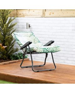 Recliner Chair - Charcoal Frame with Bamboo Leaf Classic Cushion