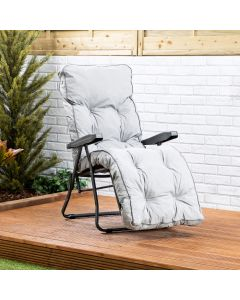 Relaxer Chair - Charcoal Frame with Grey Classic Cushion
