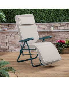 Relaxer Chair - Green Frame with Luxury Taupe Cushion