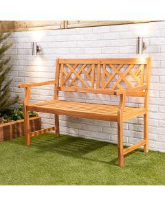 Wooden Garden Bench 2-Seater